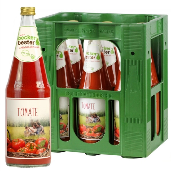Beckers Bester Tomate 6x 1L (GLAS) - Getränke Lieferservice Hamburg ...