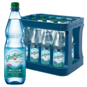 Glashäger Medium 1,0L im 12er Kasten